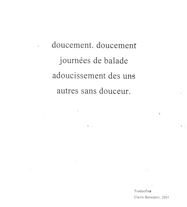 Agrafiotis' poem, translated into French.