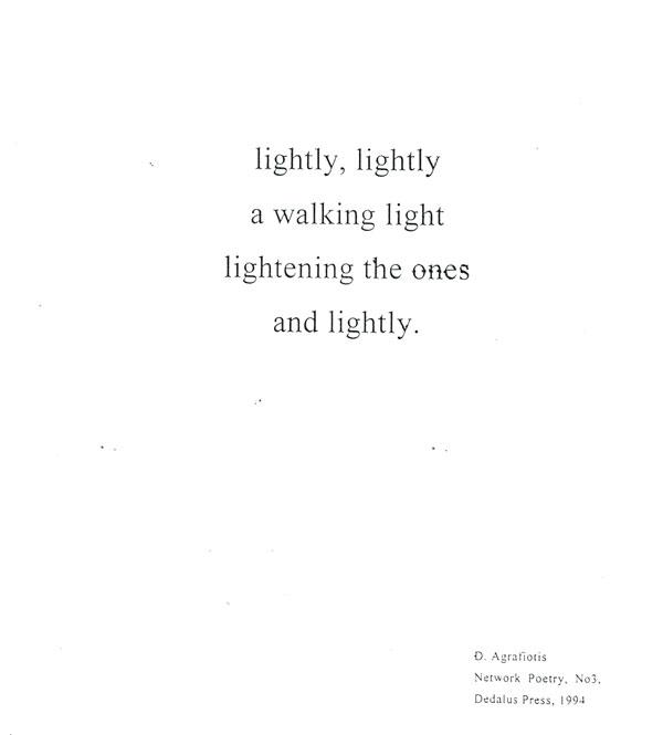 Agrafiotis' poem translated in English.